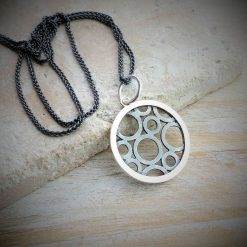Circles Within A Circle Charm And Necklace - dl_kclfc08_oxsi