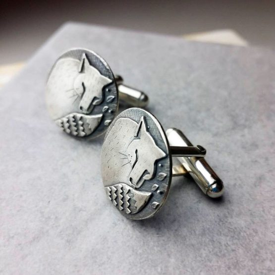 Woodland Fox Silver Cufflinks - adv123fox