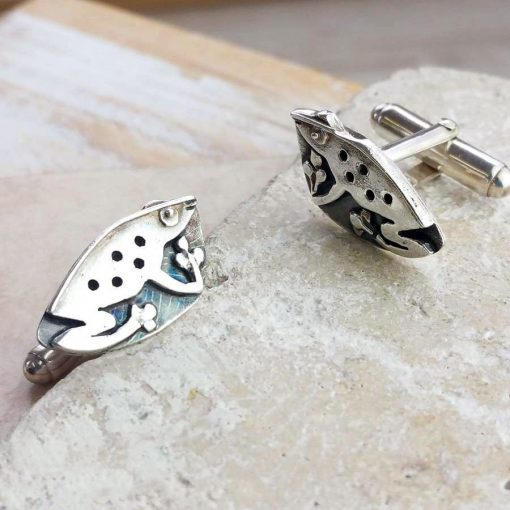 Friendly Frog Silver Cufflinks