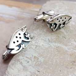 Friendly Frog Silver Cufflinks