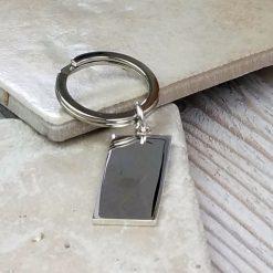 Ikon Hallmarked Silver Keyring