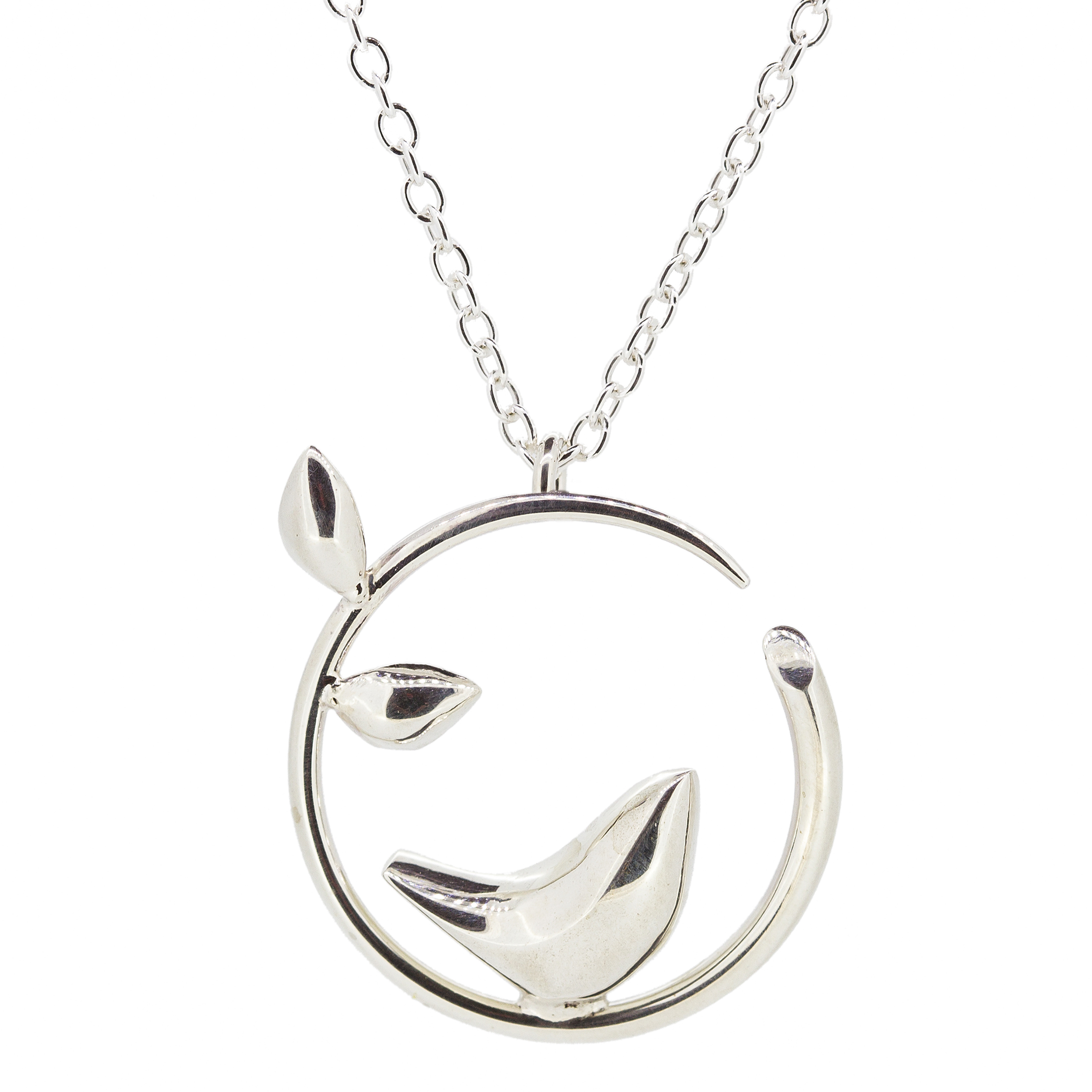 bird oliver out jewellery silver necklace cut pendant bonas geo