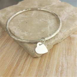 Pierced Heart Bangle