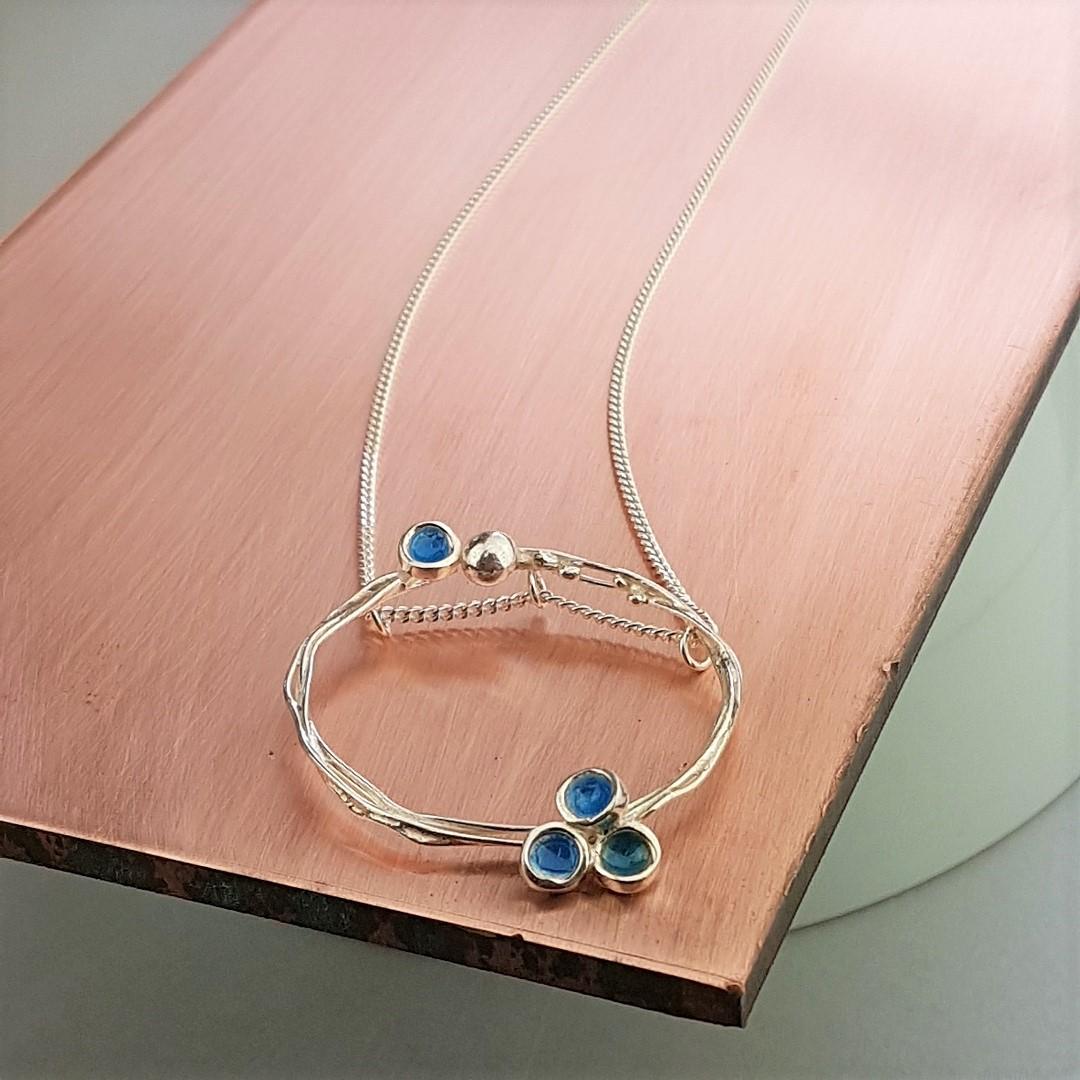 Blue Round Vitreous Pendant - Artfull Expression