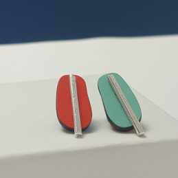 Spectra Medium Reversible Studs in Orange and Mint