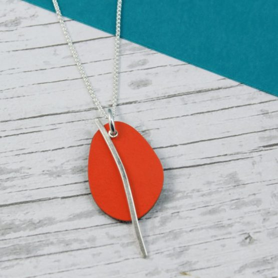 Spectra Medium Reversible Pendant In Orange and Mint