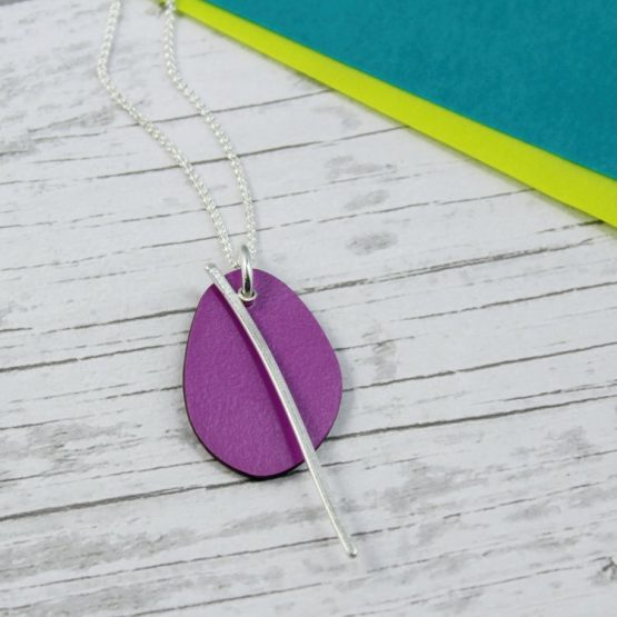 Spectra Medium Reversible Pendant in Azure and Fuchsia