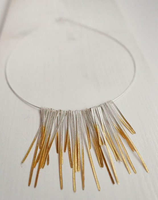 Shimmer Collar In Silver With 24 Carat Gold