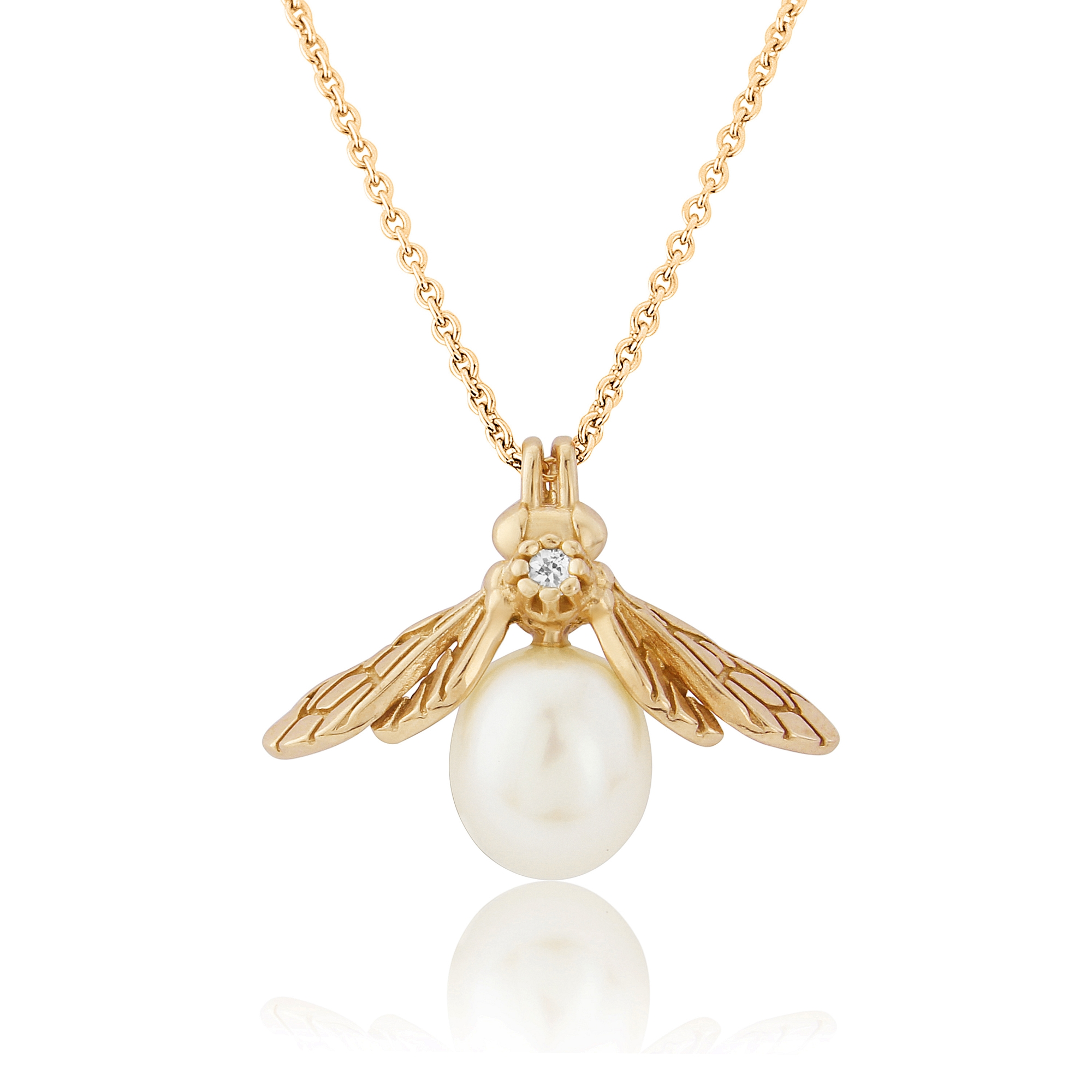 pendant gold shop daniella product bee necklace draper honey white midi