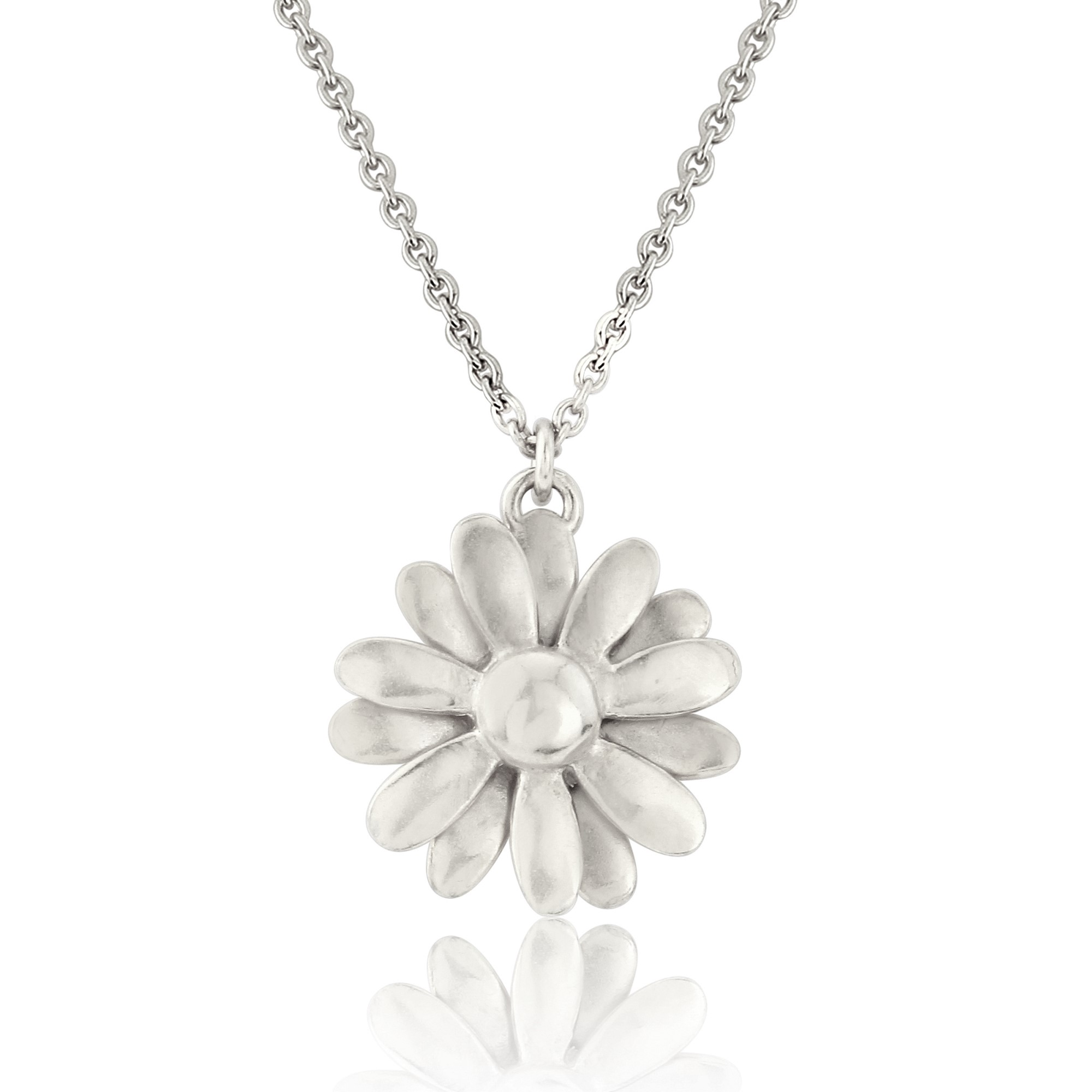 daisy us products gold sterling metalsmiths dipped with accent rose dazzling pendant