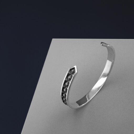 Silver cuff by Timon Teo