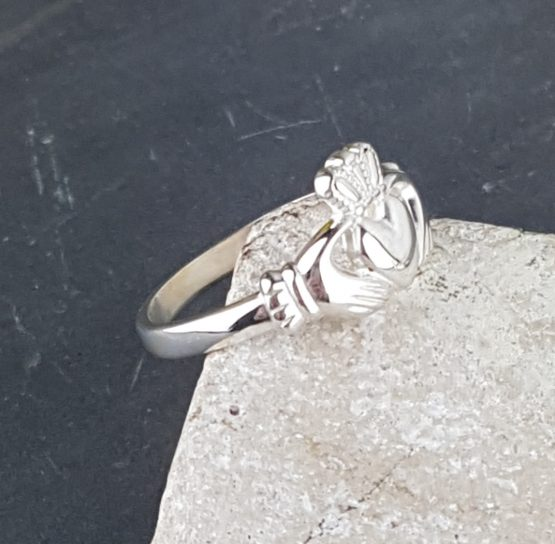Silver Claddagh Ring by David-Louis