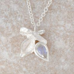 June Moonstone Silver Pendant