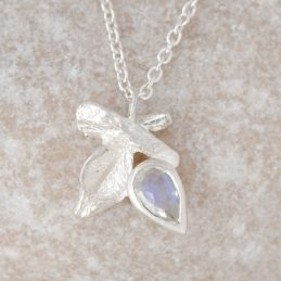 June Moonstone Silver Pendant
