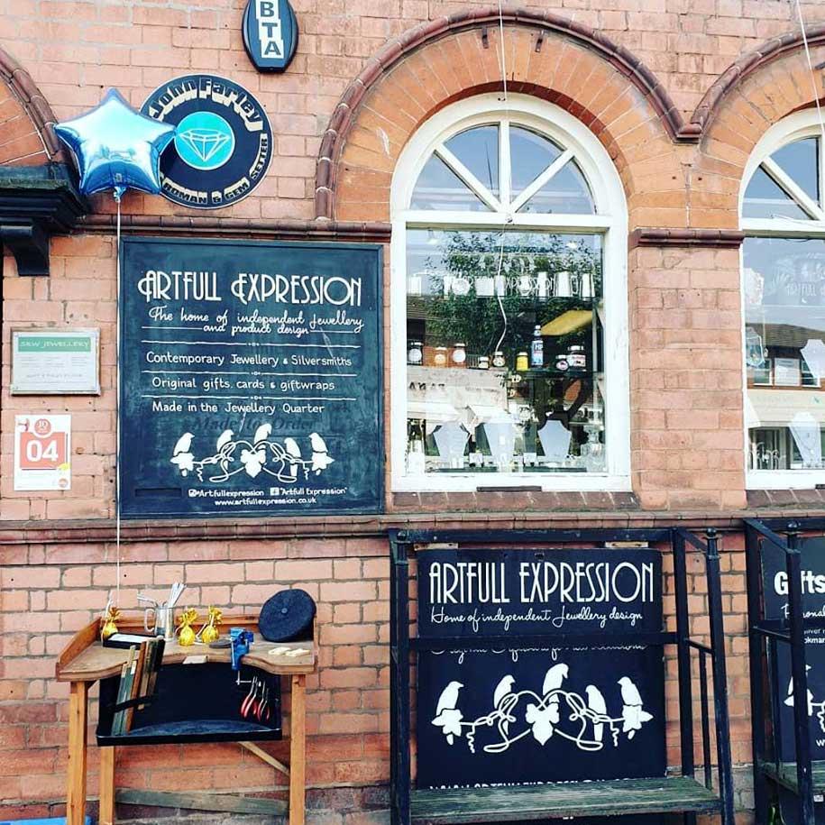Artfull Expression, Jewellery Shop, Warstone Lane, Jewellery Quarter, Birmingham, UK