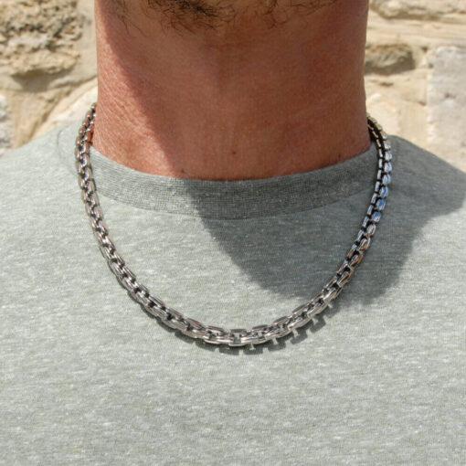 Mens Titanium Necklace