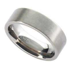 Personalised Titanium Flat Court Wedding Ring